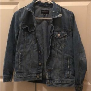 Lucky brand women's distressed jean jacket